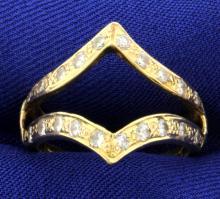 .6ct Total Weight Diamond Ring Jacket