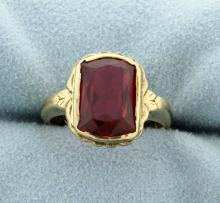 Lab Ruby Ring