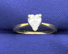 1/2 Carat Heart Shape Diamond Solitaire Ring