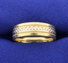 Engraved 14k 6mm Wedding Band