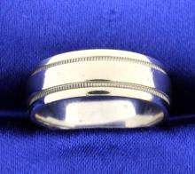 White gold 7mm band