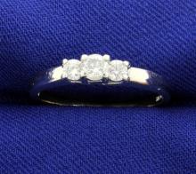 3 Diamond Platinum & 14k White Gold Ring