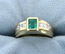 Columbian Emerald & Diamond Ring