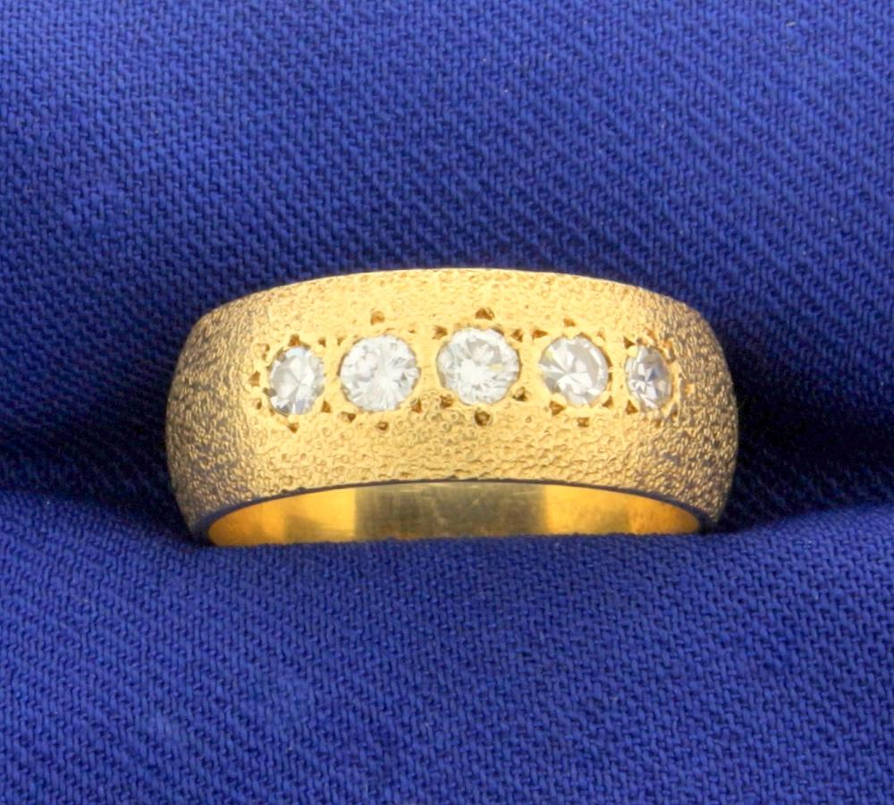 Unique 1/2 ct TW Diamond Ring Band in 14k Yellow Gold