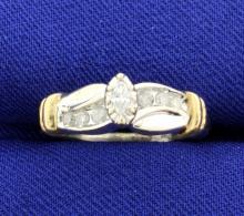 Diamond Tutone 10k Ring