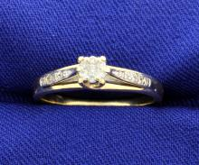 Diamond Ring with 18 Brilliant Cut Diamonds