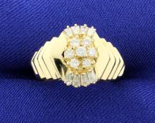 15 Diamond Cluster 14k Ring