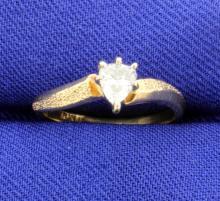 1/4 Carat Pear Shape Diamond Ring