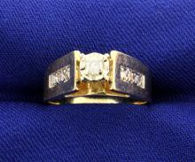 Diamond & Yellow Gold Ring