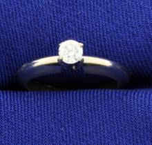 Diamond 14k Solitaire Ring