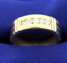 14k Diamond band ring