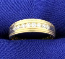 Diamond 6.5mm Wedding Band