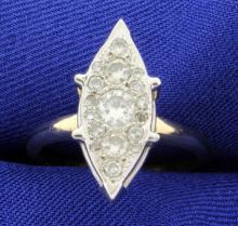 3/4ct Total Weight Vintage Diamond Ring
