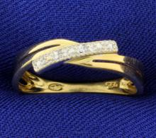 18K Gold with Diamonds Band