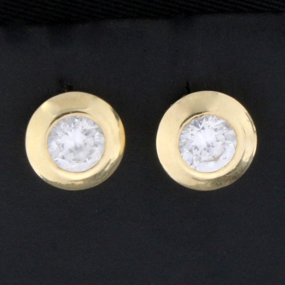 14k Gold Earrings With 1ct TW CZ Gemstones