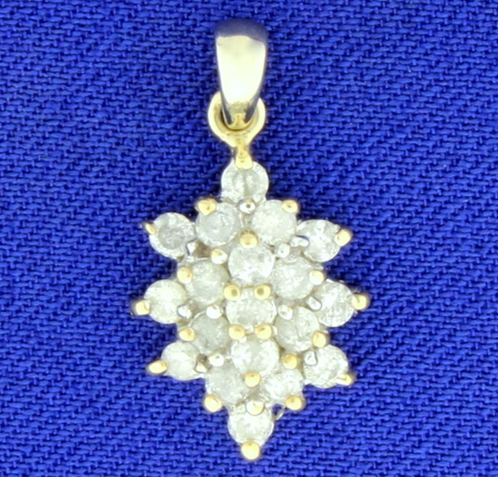 2/3 ct TW Diamond Pendant in 14k Yellow Gold