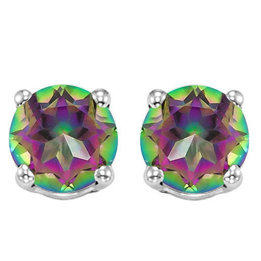 6MM Mystic Topaz Stud Earrings in Sterling Silver