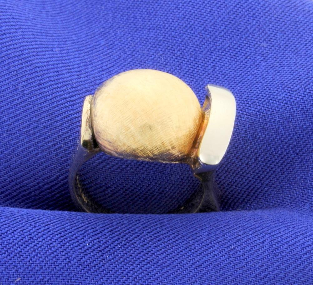 Very Unique Modernist Style 14k Gold Ring