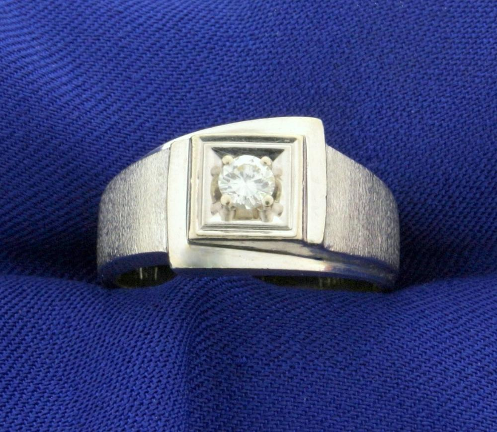 .2ct Solitaire Diamond Ring in 14k White Gold