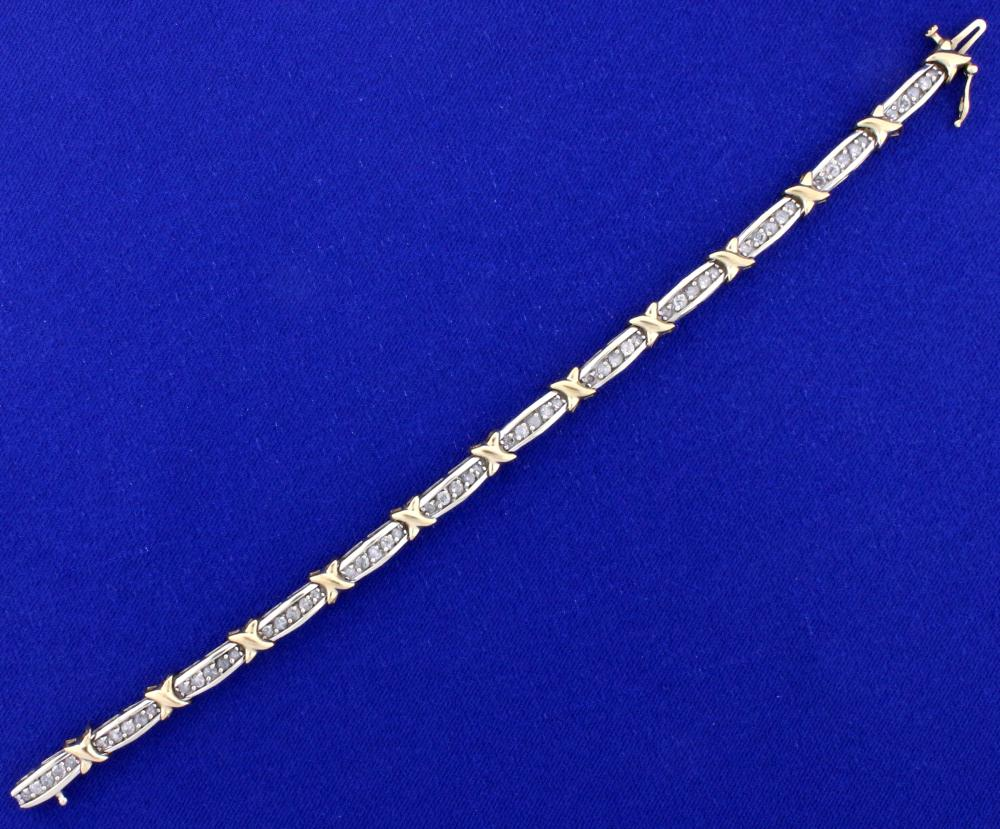2ct TW Diamond Tennis Bracelet in 10k Gold