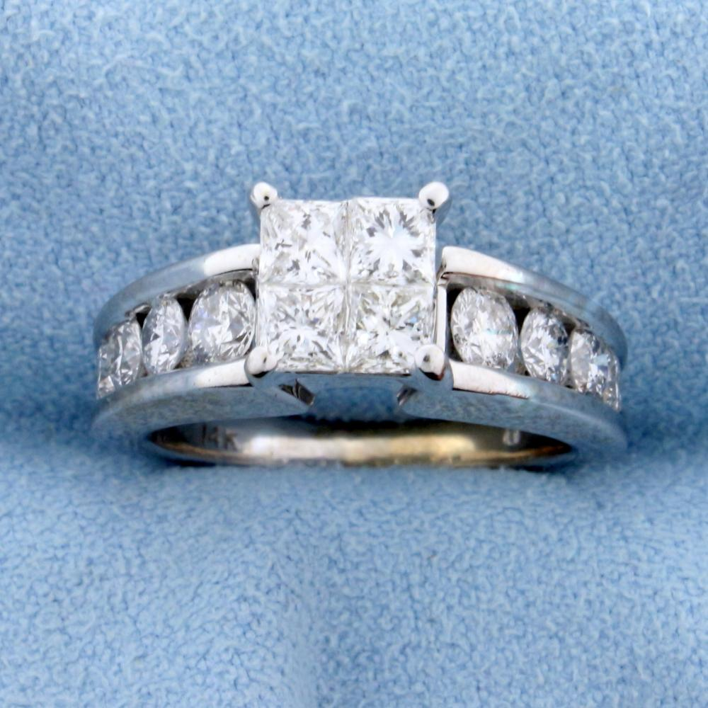 2ct TW Diamond Engagement Ring in 14k White Gold