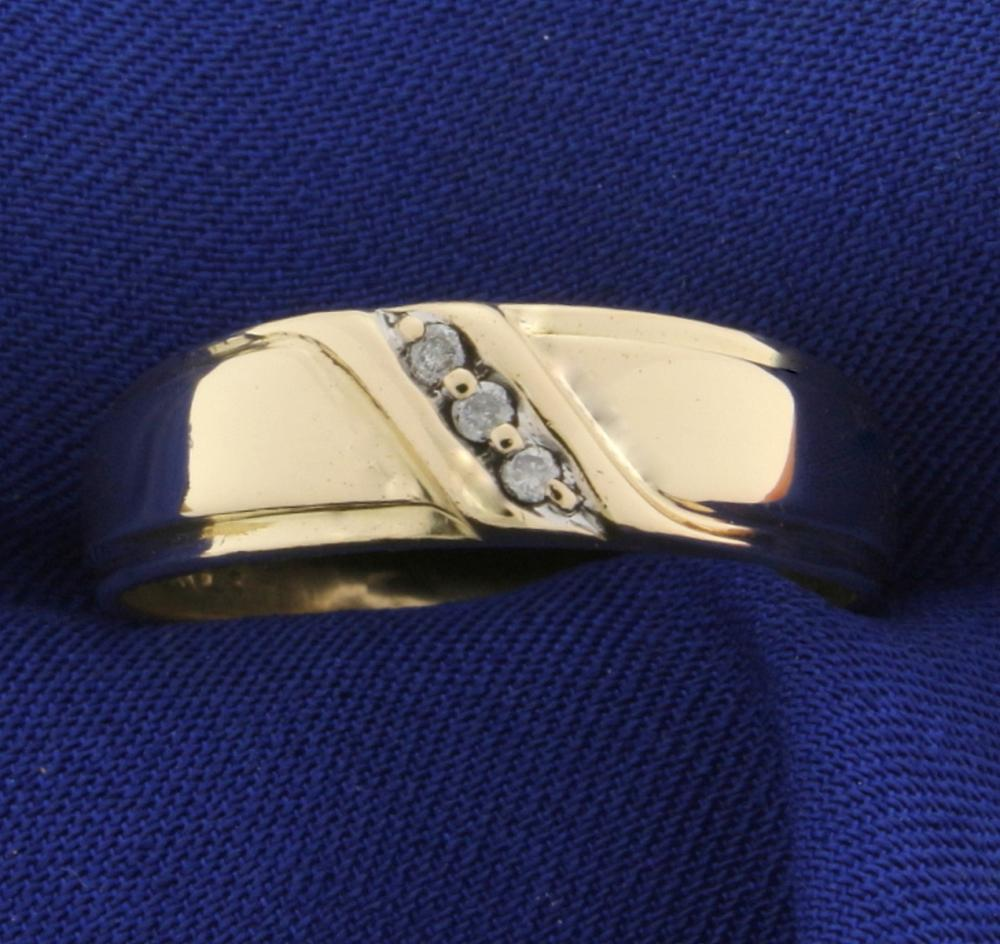 Men S Diamond Yellow Gold Rings For Sale Online Jewelry Auctions