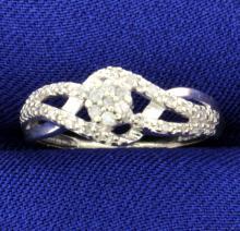 1/2 Ct Tw Micro Set Diamond Ring