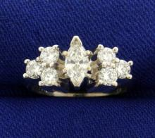 1ct TW Marquise Diamond Ring in White Gold