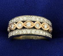 1 ct Tw Diamond Ring in 10K White and Rose Gold