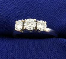 .9ct TW Three Stone Diamond Ring