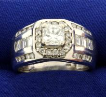 Men's 2 1/2ct TW Princess Cut Diamond Ring