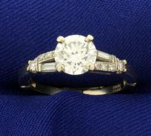 1 1/2ct TW Diamond Ring with Arthritic Adjustable Shank