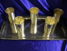 Vintage 1932 North Wales Cup Horse Race Sterling Silver Mint Julep Cups and Tray