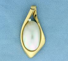 Large Pearl and Diamond Slide
