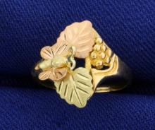 Butterfly Grapevine Gold Ring