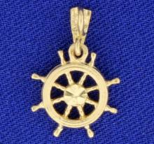 Ship Wheel Pendant or Charm