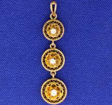 Antique Drop Down Diamond Pendant