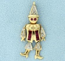 Jester or Clown Pendant