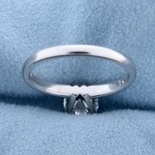 Lot 1003: GIA Certified 1.2ct TW Diamond Solitaire Engagement Ring in 14k White Gold