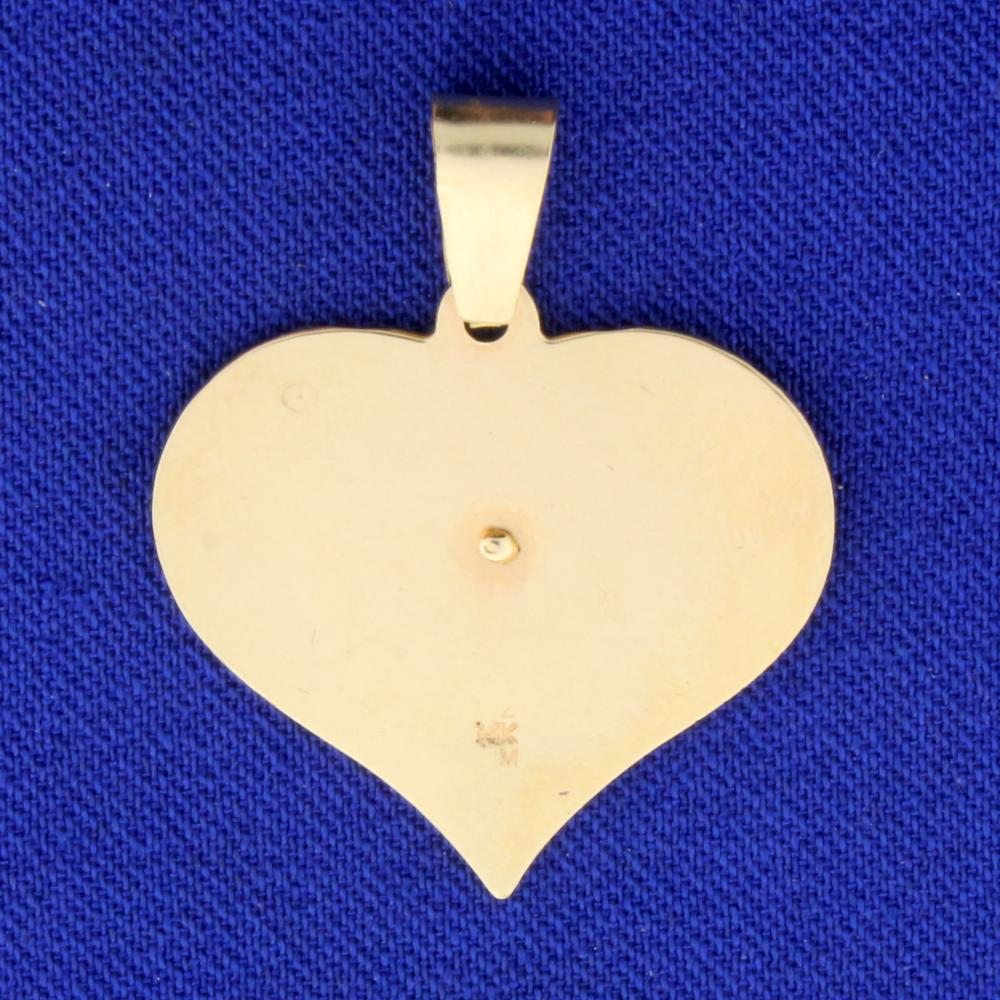 Lot 3972: #1 Sweetheart Pendant in 14k Yellow Gold