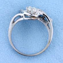 Lot 4102: Antique 1/2 ct Total Weight Old European Cut Diamond Ring in 14k White gold