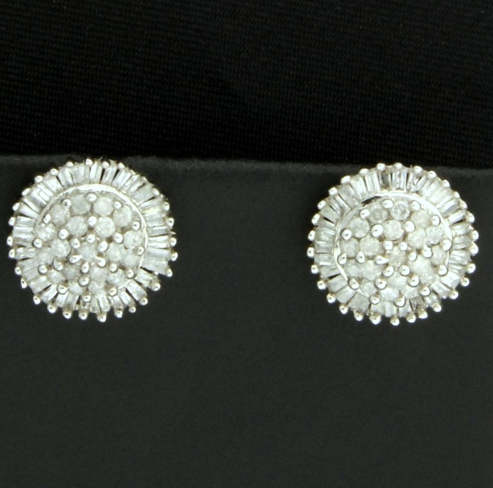 2 ct TW Diamond Earrings in 10k White Gold