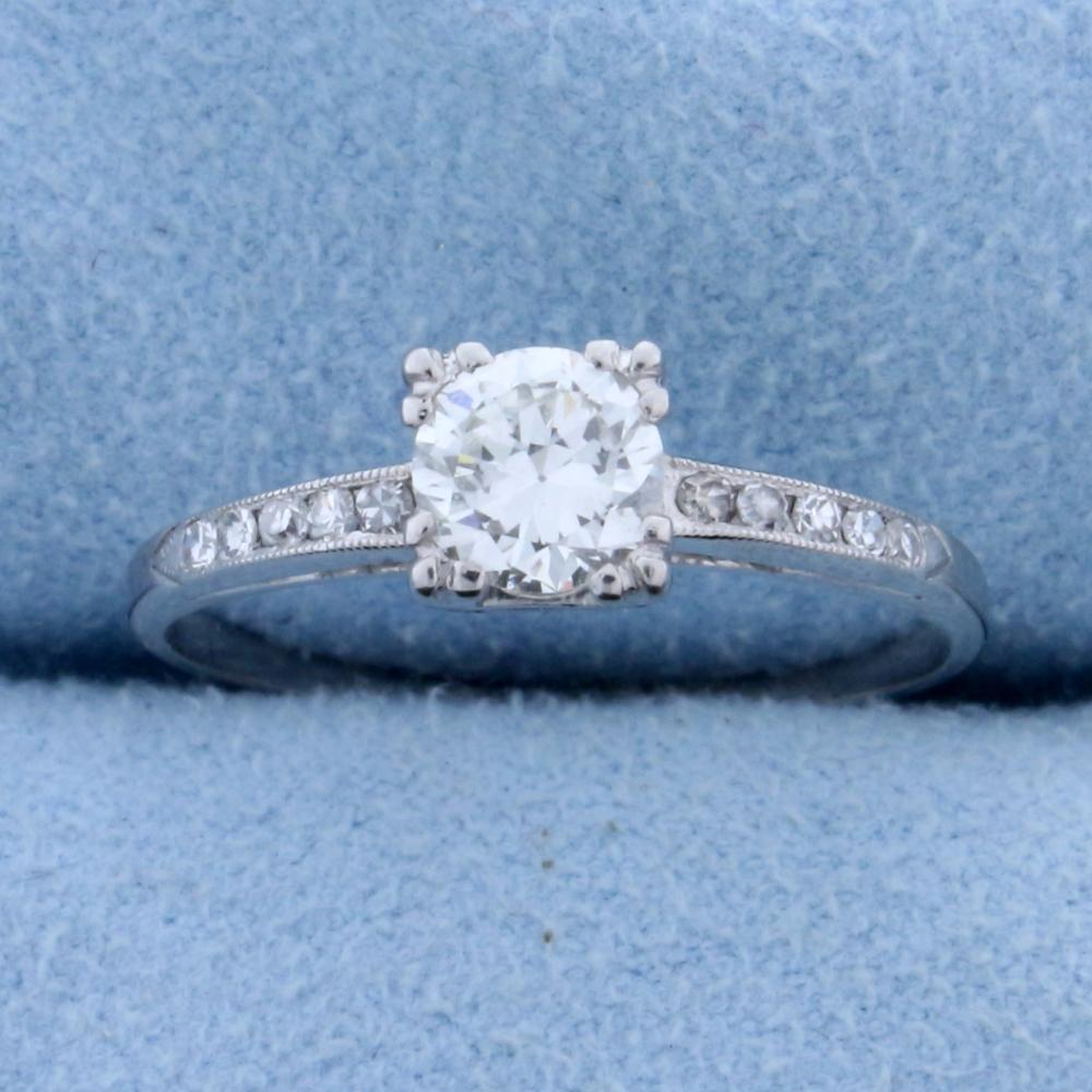 .6 ct TW Diamond Engagement Ring in Platinum