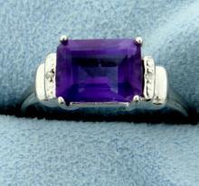 Art Deco Inspired Amethyst Ring