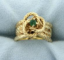 14K Natural Emerald Ring