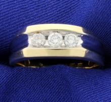Men's 1/2ct Total Weight Diamond Ring