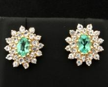 2 ct TW Green Quartz Earrings