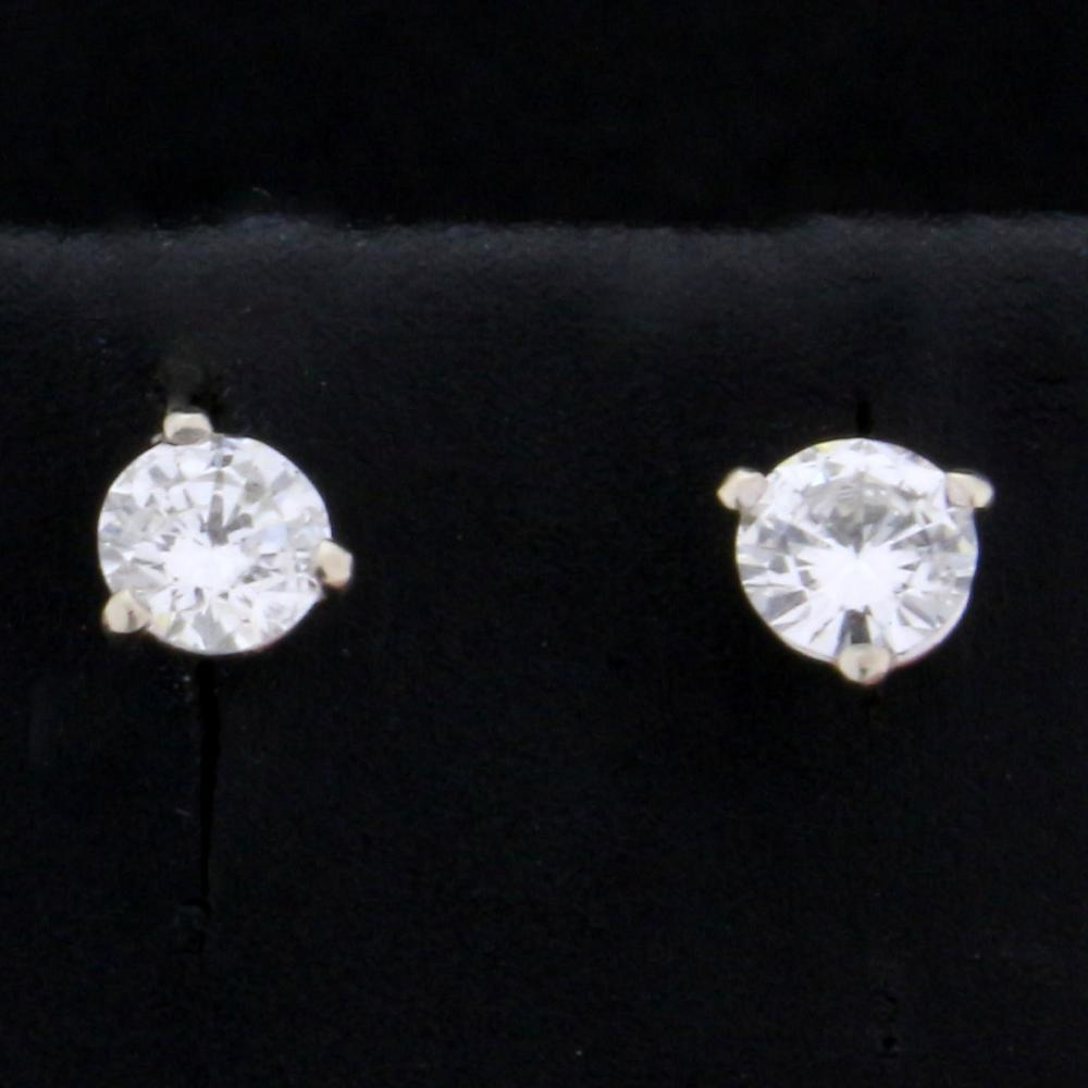 .4ct Total Weight Diamond Stud Earrings in 14k White Gold