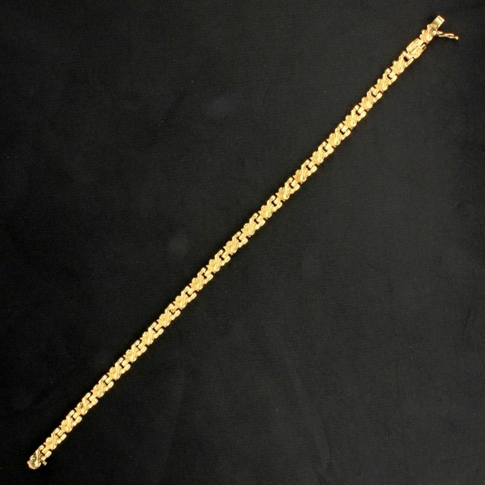7 3/4 Inch Nugget Style Bracelet in 14k Yellow Gold