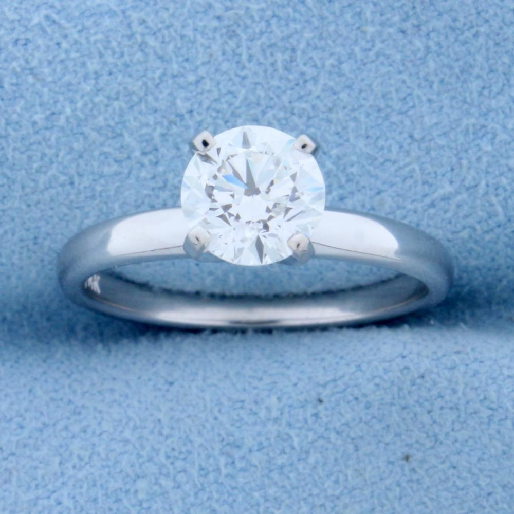 GIA Certified 1.2ct TW Diamond Solitaire Engagement Ring in 14k White Gold